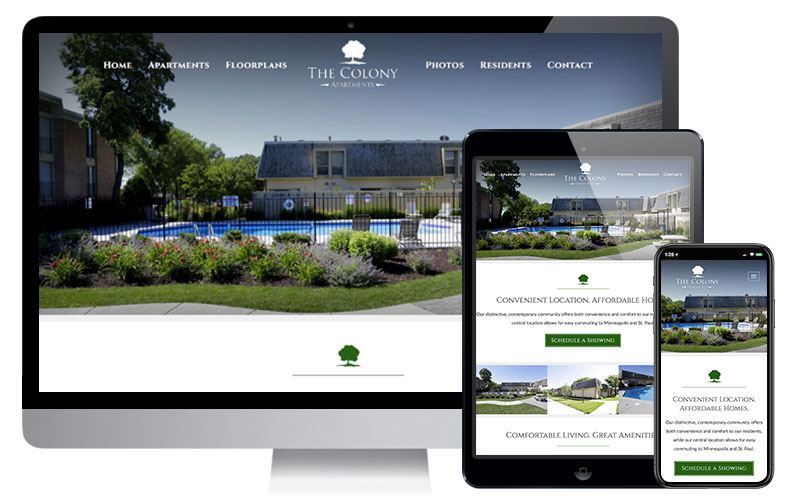 The Colony Apartments - Richfield, MN, Website Design