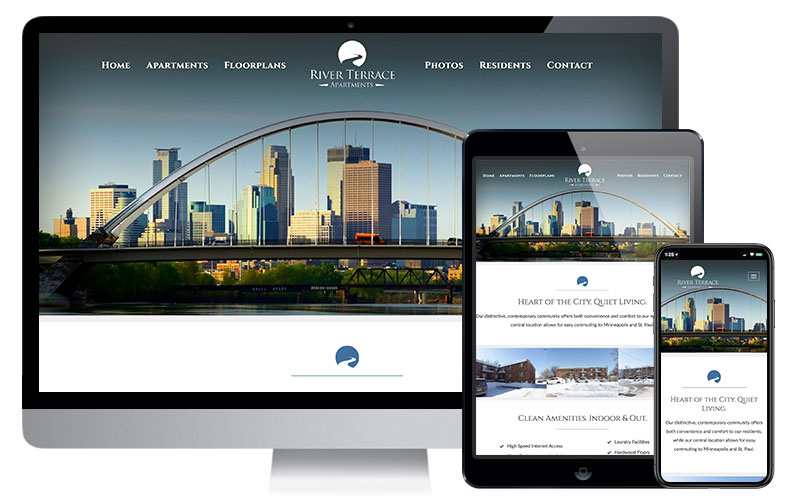 River Terrace Apartments - North East Minneapolis, Website Design