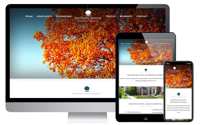 Riverview Manor Apartment Homes - Northfield, MN, Website Design