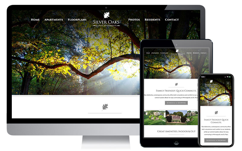 Silver Oaks Court Apartments - New Brighton, MN, Website Design
